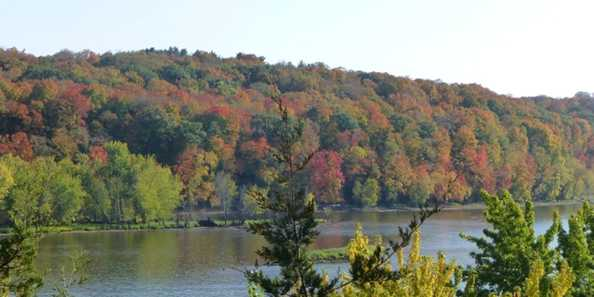 Beautiful St. Croix National Riverway features a diversity of landscapes and forests.